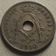 1910 - Belgique - Belgium - 25 CENTIMES, Albert 1er, Type Michaux, Légende Belgie, KM 69 - 05. 25 Centimes