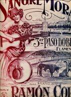 SANGRE MORA 3° PASO DOBLE FLAMENCO PARA PIANO POR RAMON COLL PARTITURA - NTVG. - Partituras