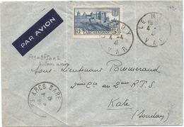 N° 392 SEUL LETTRE AVION LE MUY VAR 4.4.1941 POUR KATI SOUDAN - Marcophilie (Lettres)