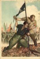"""1942-cartolina Postale Illustrata """"La Disperata (camicia Nera E Bruna Con Vessillo)""""disegnatore Boccasile Annullo Di Pos - Italie"""