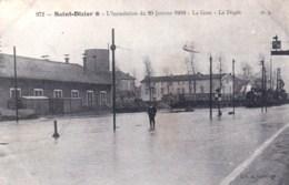 52 - Saint Dizier -  L Inondation Du 20 Janvier 1910  - La Gare -  Le Depot ( Train En Gare ) - Saint Dizier