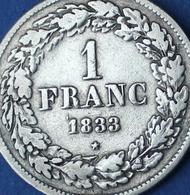 BELGIE  LEOPLD I - 1 FRANC 1833  - PRACHTIGE KWALITEIT  4 SCANS - 1831-1865: Leopold I