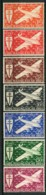 MADACASCAR ( AERIEN ) : Y&T  N°  55/61  TIMBRES  NEUFS  SANS  TRACE  DE  CHARNIERE , GOMME  BICOLORE , A  VOIR . - Luftpost