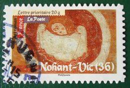 461 France 2010 Oblitéré Autoadhésif Nohant-Vic Fresque De L'église Saint-Martin - Adhésifs (autocollants)