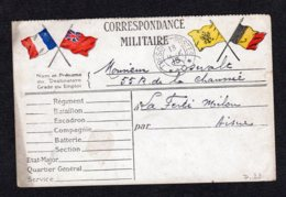 Trésor Et Postes N° 10 écrite Du 18 Janv 1915 Lot 21 - Guerre De 1914-18