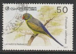 Sri Lanka Ceylon 1987 Birds 0.50 R Multicoloured SW 365 O Used - Sri Lanka (Ceylon) (1948-...)