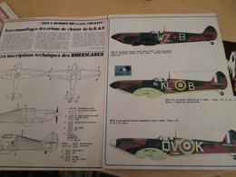 SPI2020 4 Pages Issues De SPIROU Années 80 /  LES CAMOUFLAGES DES AVIONS DE CHASSE DE LA RAF 1940 - Revues