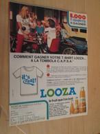 SPI2020  Issu De Revue Spirou Années 80 / PAGE DE PUBLICITE : TOMBOLA CAPSA JUS DE FRUIT LOOZA - Publicités