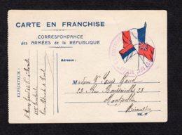 Carte En Franchise Militaire Drapeaux écrite Du 11 5 1915 Lot 112 - Militaria