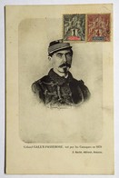 C. P. A. : Nouvelle Calédonie : Colonel GALLY-PASSEBOSSE, Tué Par Les Canaques En 1878, J. Raché, Nouméa, Timbres - Nouvelle-Calédonie