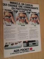 SPI2020  Issu De Revue Spirou Années 80 / PAGE DE PUBLICITE : APPAREIL PHOTO AGFA POCKET - Publicités