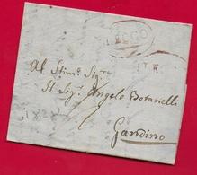 PREFILATELICA - LOMBARDO VENETO - 1828 - Lettera Con Testo DERVIO GANDINO - Bollo Postale LECCO Contornato - 1. ...-1850 Prephilately