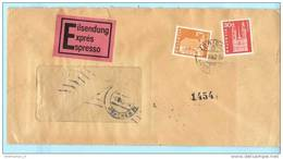 SCHWEIZ SUISSE Express Brief Cover Lettre - Zürich 1 - 01.07.62 - 701 710 Bauwerke (2 Scan)(14463) - Schweiz