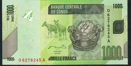 CONGO D.R. P101a 1000  FRANCS 2005   Q/A.    UNC. - Unclassified
