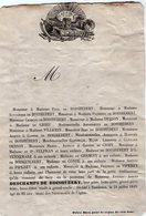 VP16.819 - BORDEAUX 1849 - Faire - Part De Décès De Mr Antoine - Adrien DESCHAMPS DE BOISHEBERT - Décès