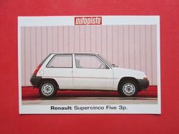 Trading Card (Cromo) - Renault Supercinco Five - Nº 22 - Col. Coches Del Mundo - Ed. Autopista 80-90 - (Spain) / France - Automobili