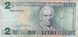 BILLET LITUANIE 2 Litai De 1993 De M. Valancius @ PICK 54 - Lituanie