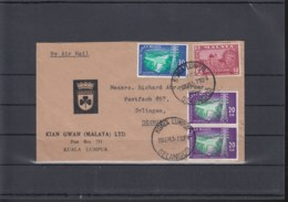 Malaysia Michel Cat.No.    Selangor Cover Mixed To Germany - Malaysia (1964-...)