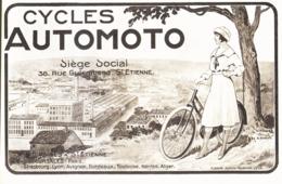 """PUB  BICYCLETTE """" AUTOMOTO  """"    1920 ( 8 ) - Other"""