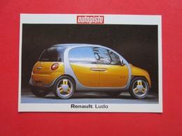 Trading Card (Cromo) - Renault Ludo - Nº 181 - Col. Coches Del Mundo - Ed. Autopista 80-90 - (Spain) / France - Automobili