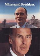 2 CP Politique élection Présidentielle 1981 François Mitterrand Valéry Giscard D'Estaing Faux Recommandé - Marcofilia (sobres)