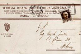 MONZA E BRIANZA - MONZA - VETRERIA BRIANZOLA DI TULLIO ANTONIO - FABBRICA DI BOTTIGLIE E FLACONI - N 029 - Monza