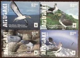 Aitutaki 2016 WWF Chatham Albatross Birds Block MNH - Sin Clasificación