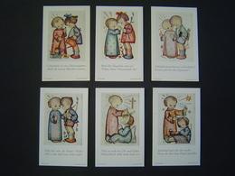 6 X CARTE RELIGION Ancienne Enfant : VER SACRUM 207 - 212 / B. HUMMEL / JOSEF MULLER - MUNCHEN / GERMANY - Religion & Esotérisme