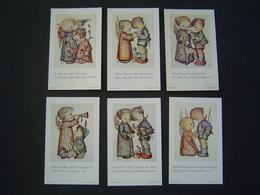 6 X CARTE RELIGION Ancienne Enfant : VER SACRUM 201 - 206 / B. HUMMEL / JOSEF MULLER - MUNCHEN / GERMANY - Religion & Esotérisme