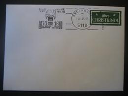 Österreich- Oberndorf 13.11.1975, Stille Nacht, Heilige Nacht Werbestempel Auf Leitzettel - 1971-80 Cartas