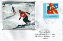 2018 Pyeongchang Belarusian Hanna Huskova,Olympic Gold Medal Freestyle Skier., Letter Minsk Sent To Andorra - Winter 2018: Pyeongchang