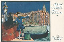 Cartolina -   Postcard  / Non Viaggiata / Unsent /  Hotel D' Italie Bauer Grunwald - Publicité