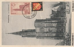 Strasbourg Conseil De L'europe 8-3-1949 - Poststempel (Briefe)