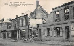 Creil Guerre 1914 TMK Incendie - Creil
