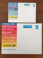 Lot De 2 PAP Enveloppes Cartonnées - Marianne Du 14 Juillet De Luquet 100g Et 500g OUTRE-MER - 1999 - Neufs ** - Biglietto Postale