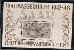 SAAR1948:Michel Block2used (Cat.Value 2,400Euros...or $2,260) - Blocs-feuillets