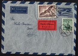AUTRICHE Lettre Exprès Par Avion Sur Entier + 2 Timbres - 1945-60 Covers