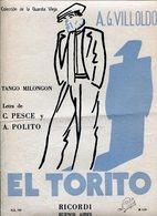 EL TORITO TANGO MILONGON LETRA DE C PESCE Y A POLITO MUSICA DE A G VILLOLDO PARTITUTA - NTVG. - Partituras