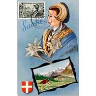 Carte Maximum De 1960 - Centenaire Du Rattachement Du Duché De Savoie Et Du Comté De Nice (1246). - Maximum Cards