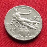 Italy 20 Centesimi 1910 KM# 44  Italia Italie Italien Italiana - Italia