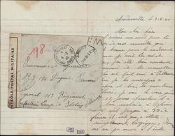 Guerre 39 FM Outarville 3 2 40 + Prisonniers De Guerre Paris 6 2 40 Censure Bande Cachet Ouvert Autorité Militaire UP51 - Guerra Del 1939-45