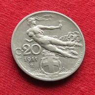 Italy 20 Centesimi 1911 KM# 44  Italia Italie Italien Italiana - Italia