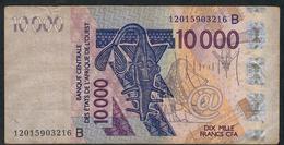W.A.S. BENIN P218Bl 10000 Or 10.000 FRANCS (20)12   VF     NO P.h. - West African States