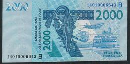 W.A.S. BENIN P216Bn 2000 Francs (20)14 VF No Tear,no P.h. - Benin