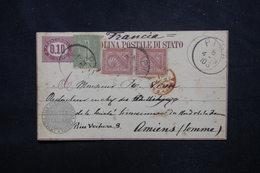 ITALIE- Entier Postal + Compléments De Pisa En 1878 Pour La France - L 52291 - 1861-78 Vittorio Emanuele II
