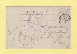 Direction Des Chemins De Fer - Commission Militaire - Gare Paris Est - 1916 - Guerra De 1914-18