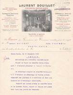 98000 Monaco Laurent Bouillet Plomberie Et Santaire  Pour Maubert 1903 - Factures & Documents Commerciaux