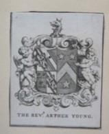 Ex-libris Héraldique XVIIIème - THE REVEREND ARTHUR YOUNG - Ex-libris