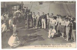 MILITARIA 14 18 MARINE MILITAIRE FRANCAISE EXERCICE DU PALIER MAKAROFF EN CAS VOIE D'EAU Circulé TOULON Vers BARBAIRA - Toulon