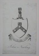 Ex-libris Héraldique XVIIIème - JOHN NEWLING - Ex-libris